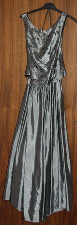 Sukienka srebrna - balowa