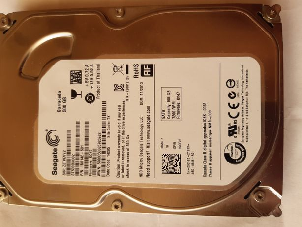 Dysk Twardy HDD 3.5 Seagate Barracuda ST500DM002 500 GB