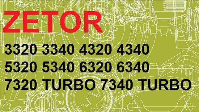 ZETOR Ciągniki 3320, 4320, 6320 do 7340 instrukcja obsługi po POLSKU!