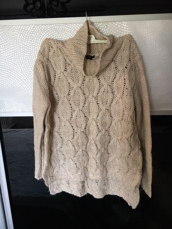Sweter H&M rozmiar M 38 beżowy knit golf