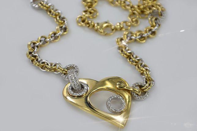 Złoty łańcuszek KOLIA 27,2g (FANTAZY) 585 Włoski -INNY! cc065y B