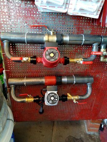 Байпас для отопления с насосом и без!!! С кранами и клапанами