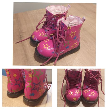 Buty zimowe, ocieplane, kozaki 23 dla dziewczynki