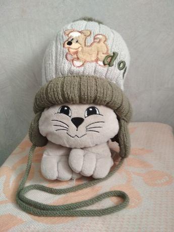 Продам шапку зимнюю на возраст 1-2 года