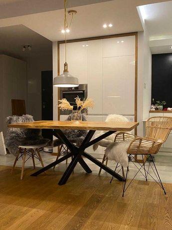 Stół dębowy, w stylu loftowym / industialnym