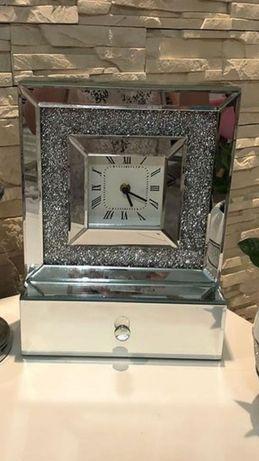 Zegar home&you lustrzany szuflada srebrny
