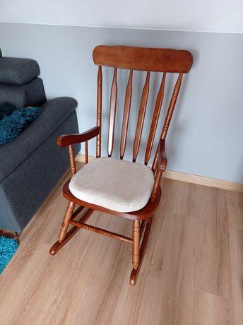 Drewniany fotel bujany, drewniane krzesło bujane
