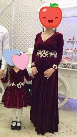 Вечерние платья для мамы и дочки. Family look