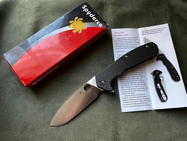 Nóż Spyderco Amalgam CPM S30V Carbon