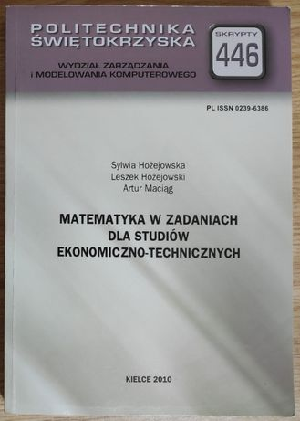 Matematyka w zadaniach dla studiów ekonomiczno-technicznych