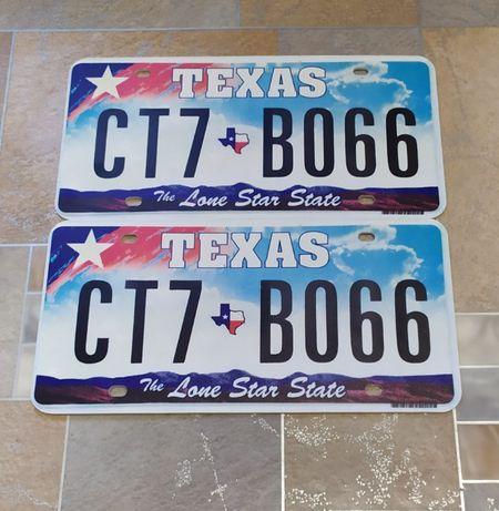 Tx американские номерные знаки США авто номера ПЛАСТИК