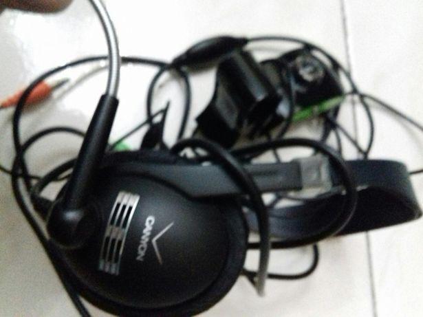 Câmara PC+ auriculares + microfone