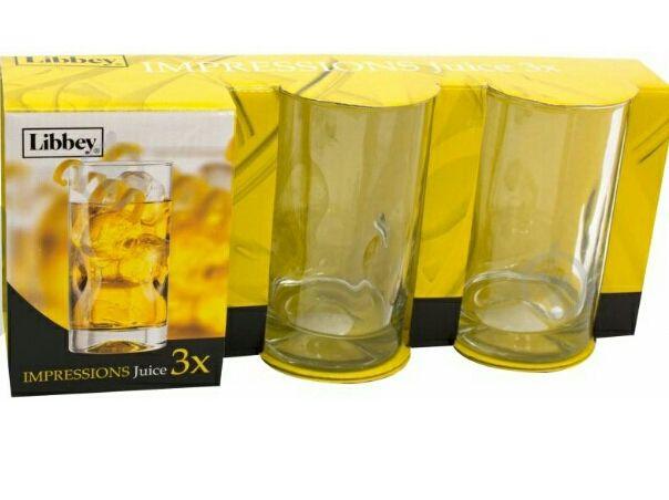 Новый набор стаканов Libbey Impressions 296 мл 3 шт