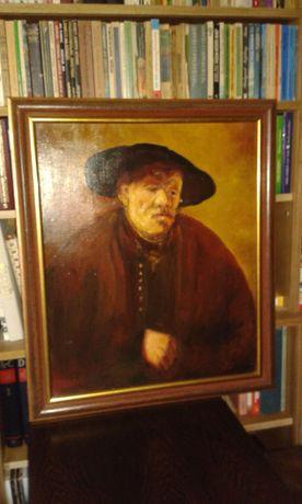 Stary obraz olejny pędzla Fr. Fellmanna