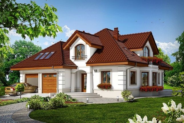 Проэкт двухэтажного частного дома площадь 169.9 м2