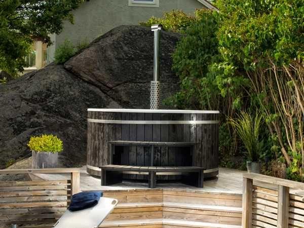 Balia ogrodowa jacuzzi spa sauna gorąca beczka hot tub ruska bania