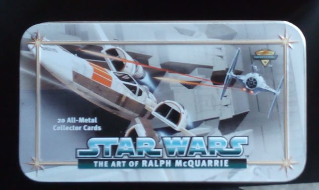 star wars the art of ralph mcquarrie / 20 all-metal collector cards