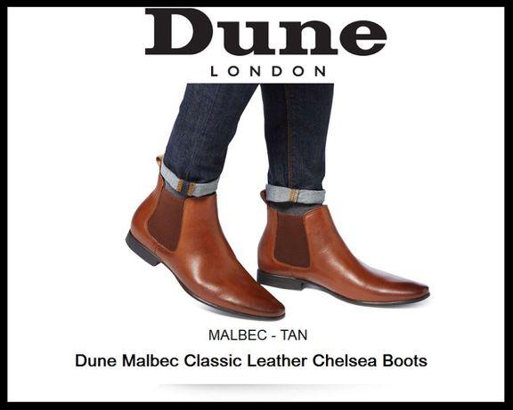 Jasnobrązowe skórzane buty firmy Dune London Dune Malbec