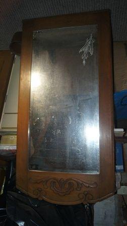 Lustro zabytkowe kryształowe około 100-letnie