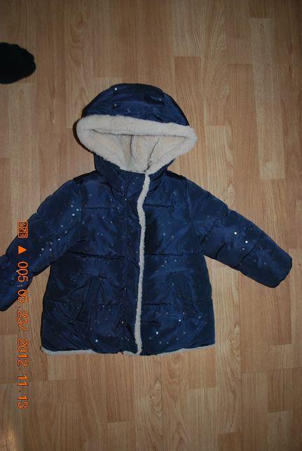 Zimowa kurteczka Zara rozmiar 98