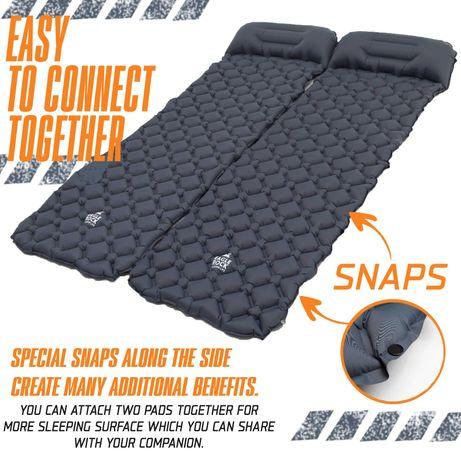 Надувной туристический коврик с подушкой EagleRock матрац для палатки