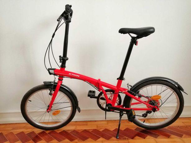 Bicicleta dobrável Btwin Tilt 120 vermelha   Como nova