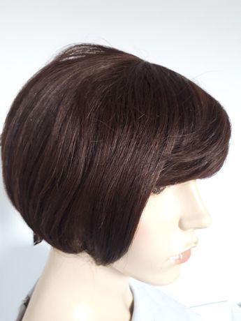 WYPRZEDAŻ-60% peruka 100% human hair włosy naturalne bob asymetryczny
