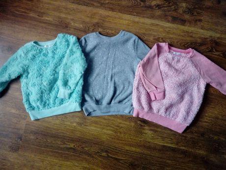 Polarki bluzy ciepłe pluszowe 92/104