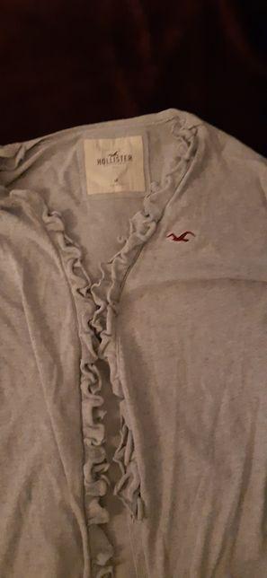 szary długi sweter Hollister / M