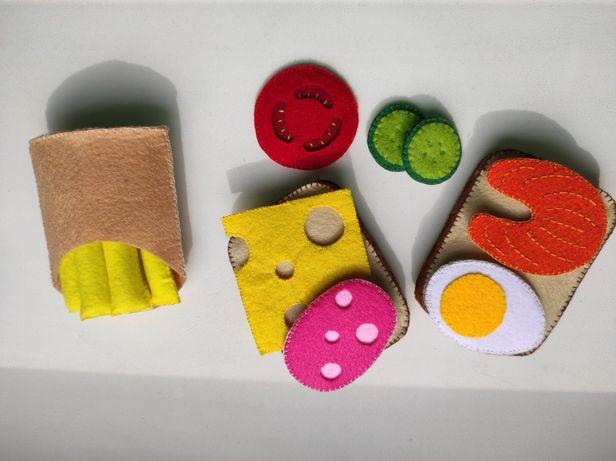 Еда из фетра, игрушечная еда.Набор