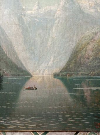 Картина старая 19 век  (подпись)