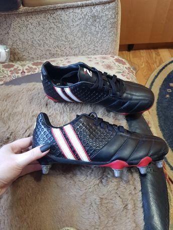 Черные бутсы, кеды кроссовки для футбола, копочки 40 размер