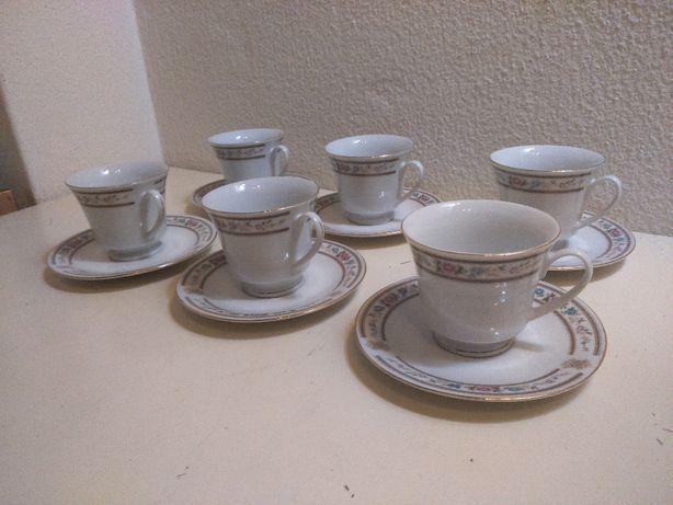 Retro Serviço Chá 6 pax Porcelana Chinesa
