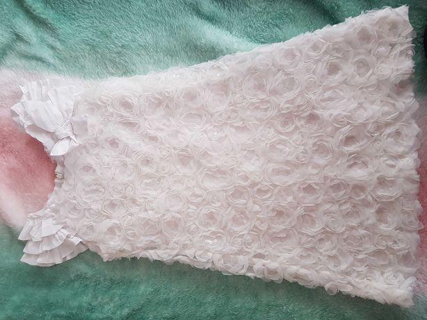 Wójcik lady diamond 122 128 sukienka białe komunia