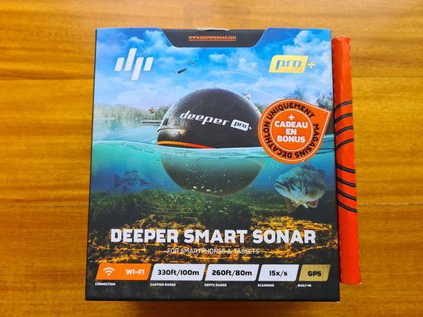NOVO / SELADO - Sonda Pesca DEEPER Pro Plus Wi-Fi + Suporte Smartphone