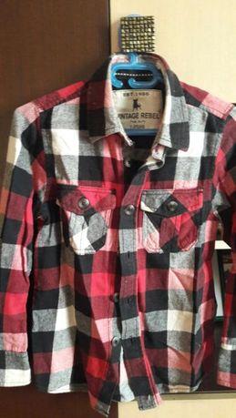 Рубашки на мальчика в школу рост -128
