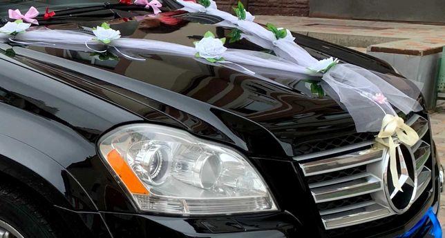 Свадебное украшение для машины