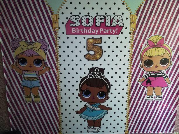 Баннер, фотозона на день рождения