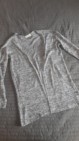 Szary sweterek H&M/melanż/XS S 34 36