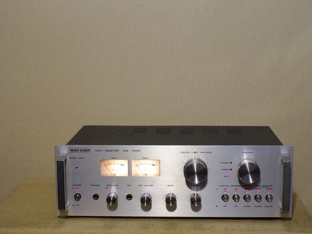 Красивый HI-FI усилитель 70-х MUSIC LEADER MA-1400 (2х80Вт/8кг)