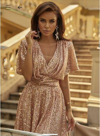 Lou lexa, piekna cekinowa sukienka