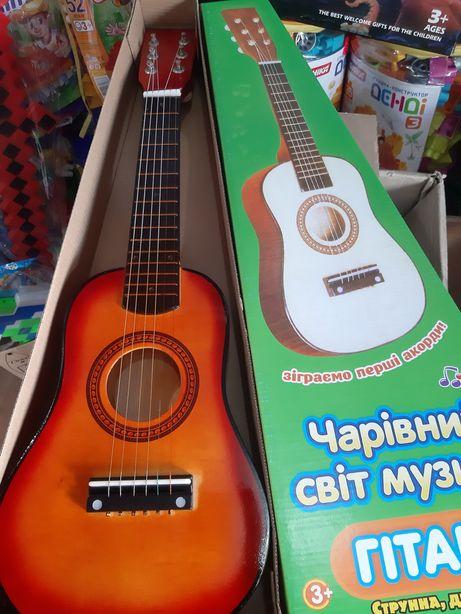 Гитара детская 6ти струнная деревянная