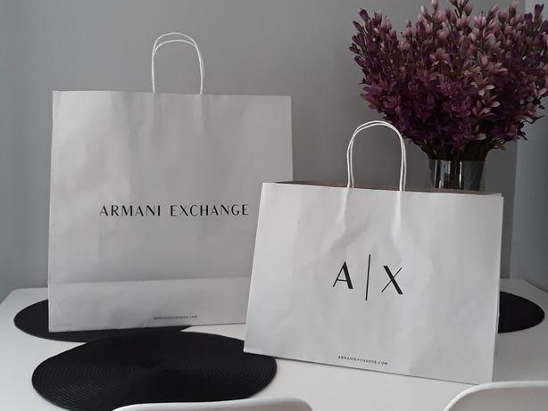 ARMANI A/X AX Torebka Sklepowa Papierowa Podarunkowa Prezentowa SREDNI