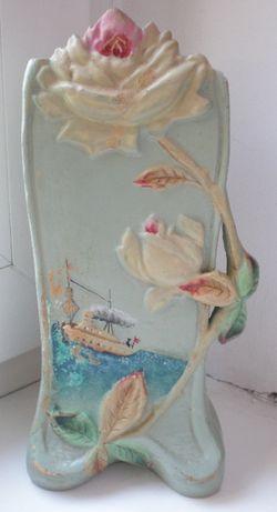 Керамическая ваза-карандашница, ранний СССР