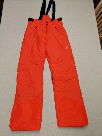 Spodnie narciarskie Wedze pomarańczowe (regulowane nogawki)