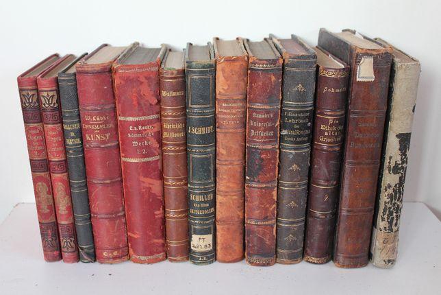 stare książki z XIXw i przedwojenne, niemieckie, piękna biblioteka