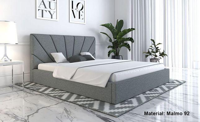 Łóżko tapicerowane Mino Slim 160 dwuosobowe łoże wybór TKANIN stelaż