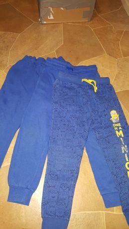 3 pary spodni dresowych, 5-6 lat, 116, nogawka 65, krok 22