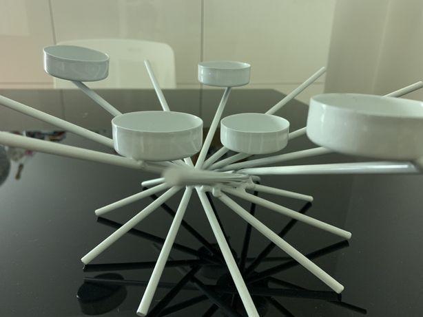 Castiçal porta velas moderno branco AREA