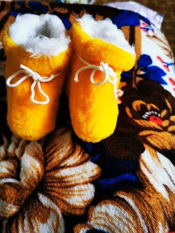 Пінетки дитячі жовтого кольору